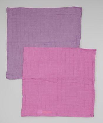 Rosebud & Violet Organic Swaddling Blanket Set
