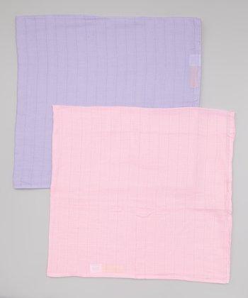 Pink & Lavender Organic Swaddling Blanket Set