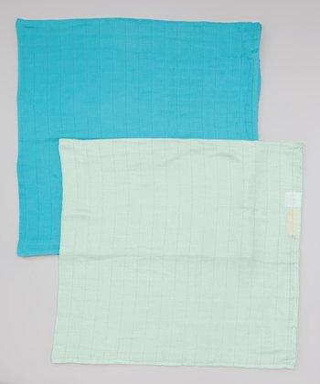 Teal & Sage Organic Swaddling Blanket Set