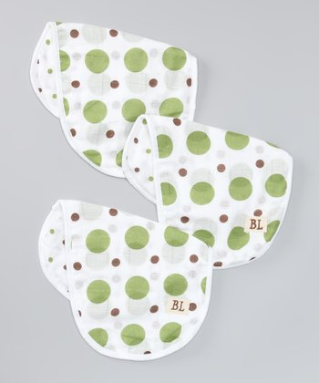 Green Dot Organic Burp Cloth Set