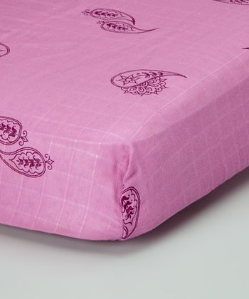Rosebud Paisley Organic Crib Sheet