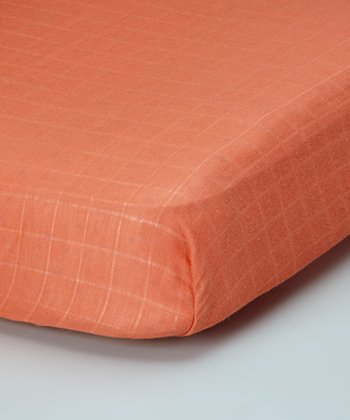 Pumpkin Organic Crib Sheet