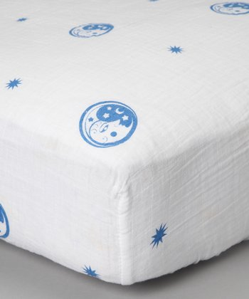 Blue Moon Organic Crib Sheet