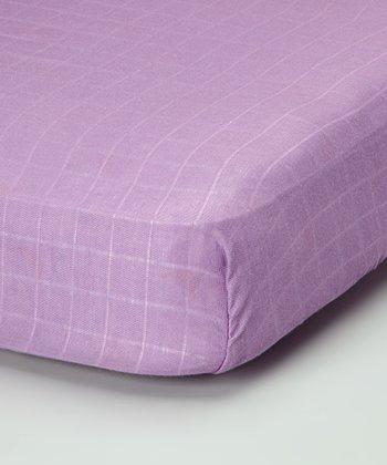 Violet Organic Crib Sheet