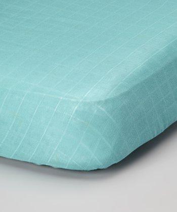 Periwinkle Organic Muslin Crib Sheet