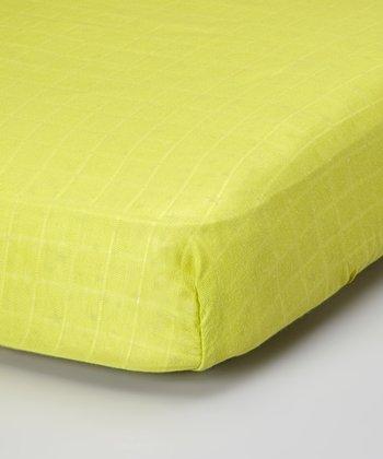 Lime Organic Muslin Crib Sheet