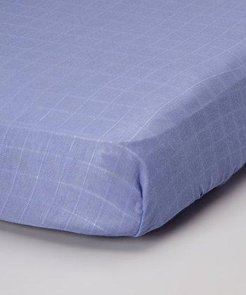Blueberry Organic Muslin Crib Sheet