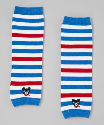 Red & Blue Stripe Leg Warmers