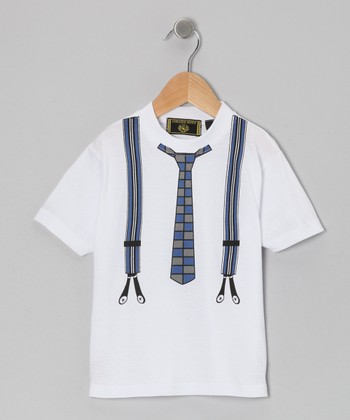 Navy Tie & Suspenders Tee - Infant, Toddler & Boys