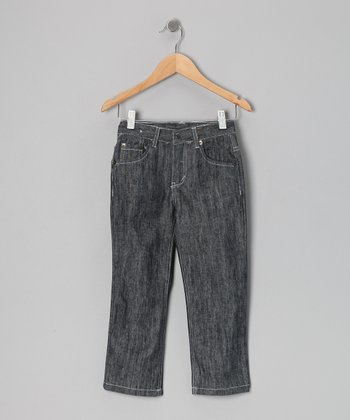 Gray Medium Wash Jeans - Boys
