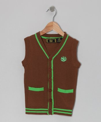 Brown & Green Cardigan - Infant, Toddler & Boys