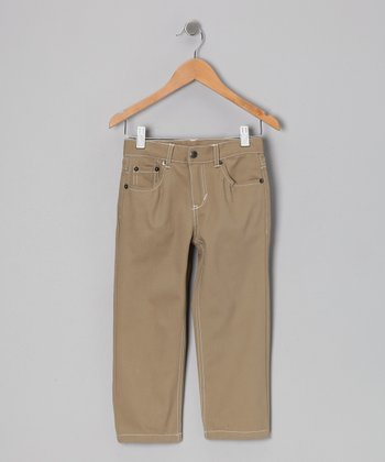 Khaki Straight-Leg Jeans - Infant