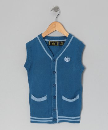 Blue & Gray Cardigan - Infant, Toddler & Boys