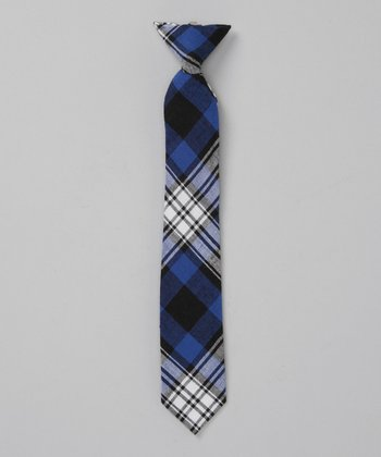 Blue & Gray Plaid Tie - Infant, Toddler & Boys
