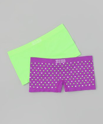Purple Nova & Limelight Underwear Set - Girls