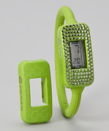 Green Watch & Swarovski/Apple Cover Set