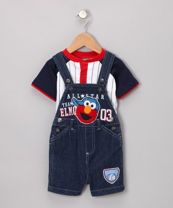Denim All-Star Overalls & Tee