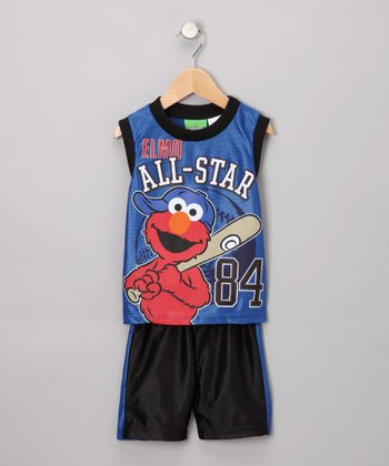 Blue Elmo All-Star Tank & Shorts