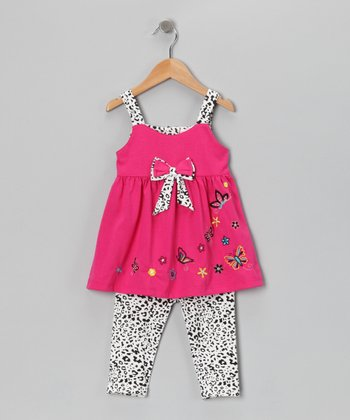 Pink Cheetah Butterfly Tunic & Leggings