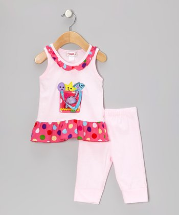 Unik Pink Sea Animals Tunic & Leggings - Infant