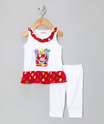 White Sea Animals Tunic & Leggings - Infant