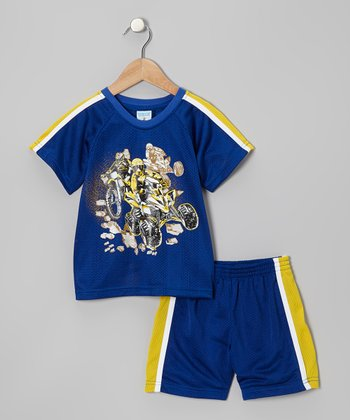 Royal Blue & Yellow ATV Tee & Shorts - Toddler & Boys