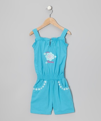 Turquoise 'Sweet Like Mommy' Romper - Toddler & Girls