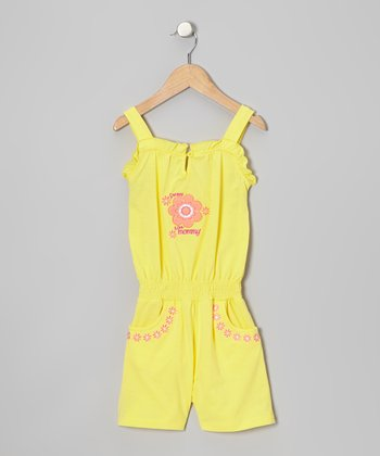 Yellow 'Sweet Like Mommy' Romper - Toddler & Girls