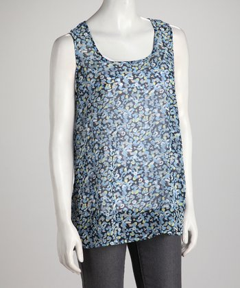 Blue Abstract Spot Tank