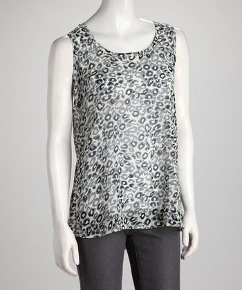 Gray Abstract Spot Tank