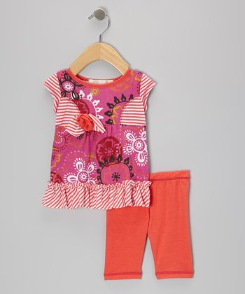 Coral Princess Tunic & Leggings - Infant