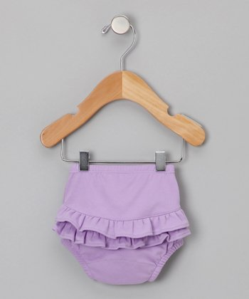 Lavender Ruffle Diaper Cover - Infant