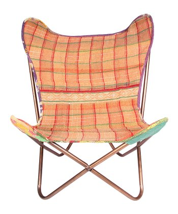Orange Stripe 26.5'' Butterfly Chair