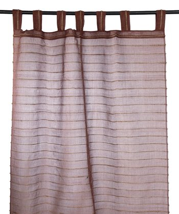 Chocolate Brown Pouch Curtain
