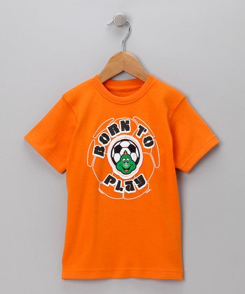 Orange 'Born to Play' Tee - Toddler