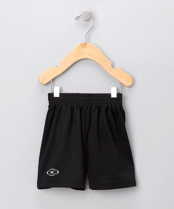 Black Soccer Shorts - Toddler & Boys