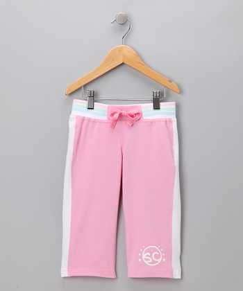 Pink 'SC' Capri Pants - Toddler & Girls