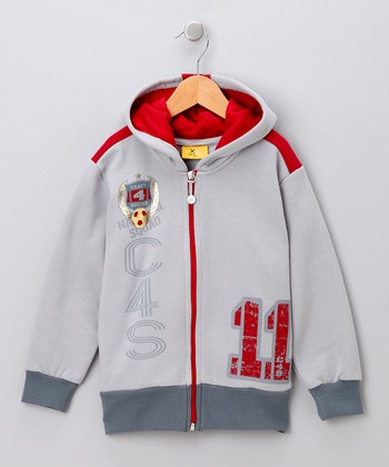 Gray 'C4S' Zip-Up Hoodie - Toddler & Boys