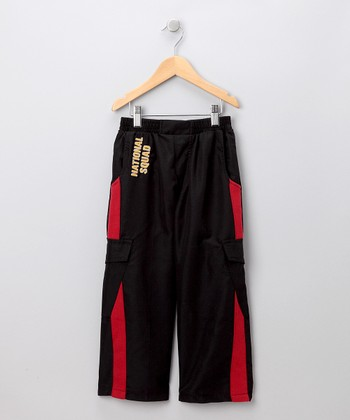 Black & Red Warm-Up Pants - Toddler & Boys