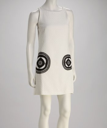 White & Black Bullseye Dress