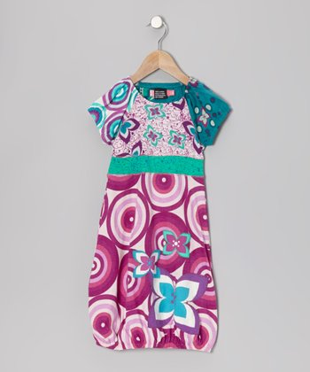 Fuchsia Flamenco Bubble Dress - Girls
