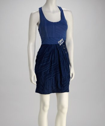 Blue Two-Tone Dress