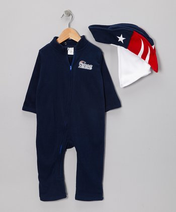 New England Patriots Fleece Playsuit - Infant & Toddler