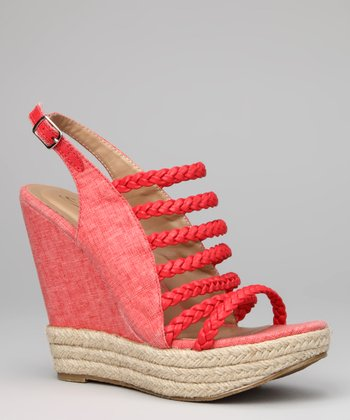 Coral Molly Wedge Sandal