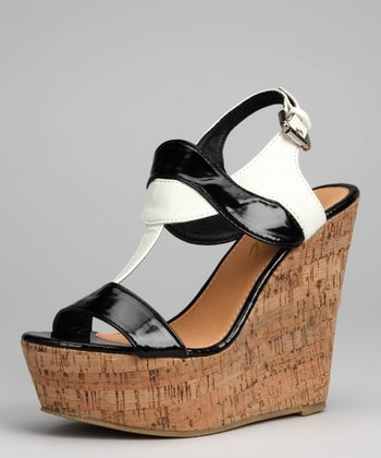 Black Zoey Wedge Sandal