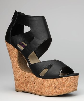 Black Bessie-29 Wedge Sandal