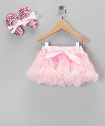 Light Pink Pettiskirt & Leopard Booties - Infant