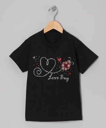 Black 'Love Bug' Tee - Toddler & Girls