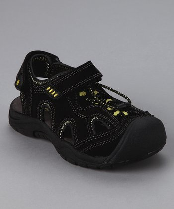 Black & Yellow Nile Sandal - Toddler & Boys