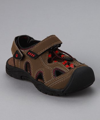 Olive & Red Nile Sandal - Toddler & Boys